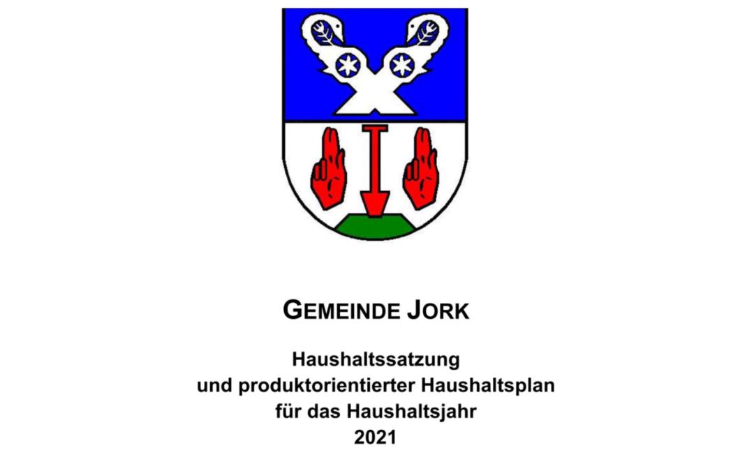 Haushalt 2021 beschlossen